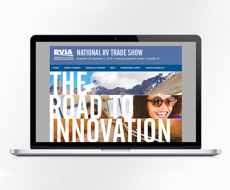 2016 National RV Trade Show Attendee Campaign: Website